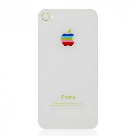 iPhone 4S Bakstycke Retro Apple (Vit)