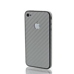 iPhone 4 Bakstycke Kolfiber (Silver)