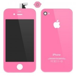 iPhone 4 Digitizer/Bakstycke Kit (Rosa)