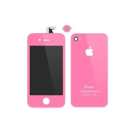 iPhone 4 Digitizer/Bakstycke Kit (Rosa)