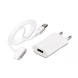 iPhone iPod iPad USB-laddare (Vit)