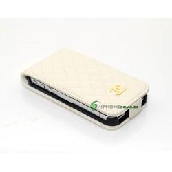 iPhone 4/4S Plånbok Vertikal CH (Vit)