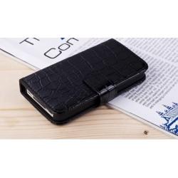 iPhone 4/4S Plånbok Crocodile (Svart)