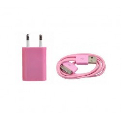 iPhone iPod iPad USB-laddare (Rosa)