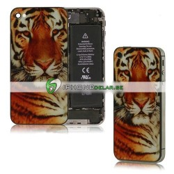 iPhone 4 Bakstycke Tiger (Orange)