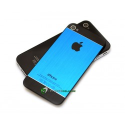 iPhone 4S Bakstycke Borstad Svart Botten Topp (Blå)