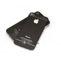 iPhone 4S Bakstycke Borstad Svart Botten Topp (Svart)