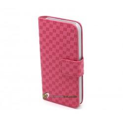 iPhone 5 Plånbok Schack (Rosa)