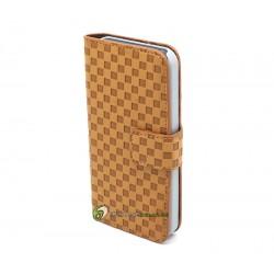 iPhone 5 Plånbok Schack (Brun)