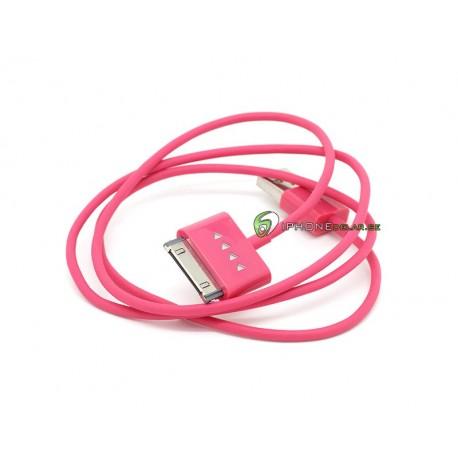 iPhone, iPod, iPad Synkkabel USB 2.0 Light 1m (Rosa)