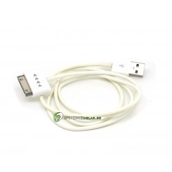 iPhone, iPod, iPad Synkkabel USB 2.0 Light 1m (Vit)