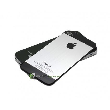 iPhone 4S Bakstycke Borstad Silver (Svart BT)
