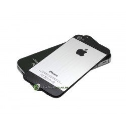 iPhone 4 Bakstycke Borstad Silver (Svart BT)