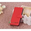 iPhone 5 Plånbok Leather (Röd)