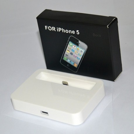 iPhone 5 Docka (Vit)