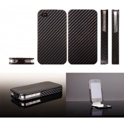 iPhone 4 Carbon Skin Fodral (Svart)