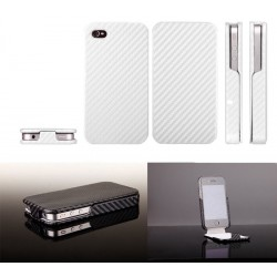 iPhone 4 Carbon Skin Fodral (Silver)