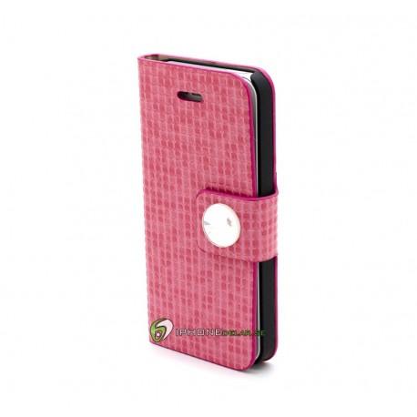 iPhone 5 Plånbok Matrix (Rosa)