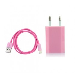 iPhone 5/5S/5C USB-laddare (Rosa)