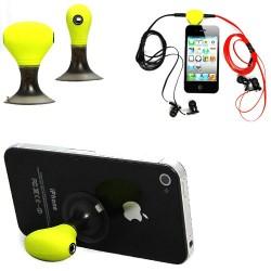 iPhone 3.5mm Audio Splitter och Stöd (Lime)