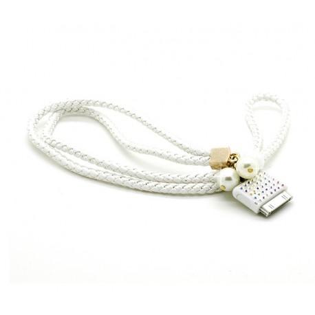 iPhone Halsband Pearl (Vit)
