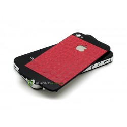 iPhone 4S Bakstycke Crocodile Red (Svart BT)