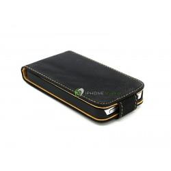iPhone 5 Plånbok Vertikal Mocka (Svart)
