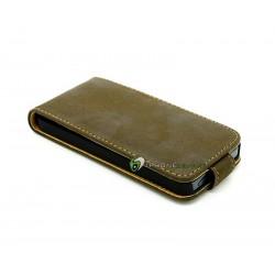 iPhone 5 Plånbok Vertikal Mocka (Grå)