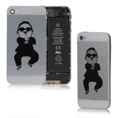 iPhone 4 Bakstycke Gangnam Style (Vit)