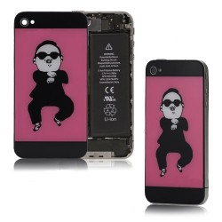 iPhone 4 Bakstycke Gangnam Style (Rosa)