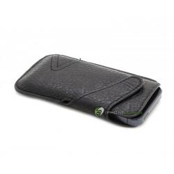 iPhone 5 Fodral Leather (Svart)