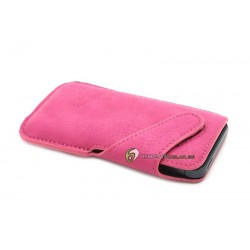 iPhone 5 Fodral Leather (Rosa)