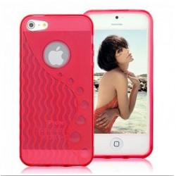 iPhone 5 Skal Wave (Rosa)