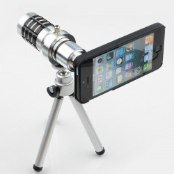 iPhone 4/4S Telephoto Lins 12X med Stativ