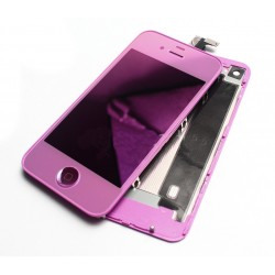 iPhone 4S Digitizer/Bakstycke Chrome Kit (Rosa)