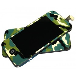 iPhone 4S Digitizer/Bakstycke Kit (Camo)