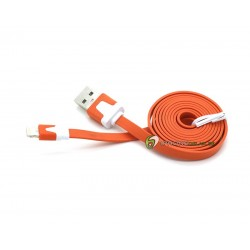 iPhone 5/5S/5C Noodle Kabel (Orange)