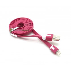 iPhone 5/5S/5C Noodle Kabel (Rosa)