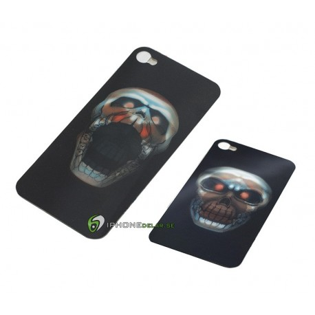 iPhone 4/4S Skärmskydd 3D Scull