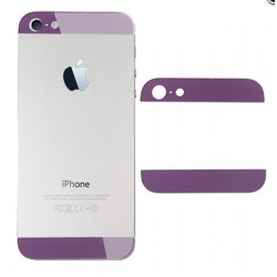 iPhone 5 Bakstycke Glas Top/Botten (Lila)