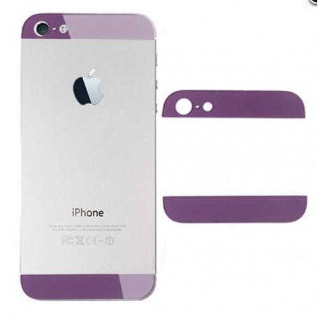 iPhone 5 Bakstycke Glas Top/Botten (Lila)