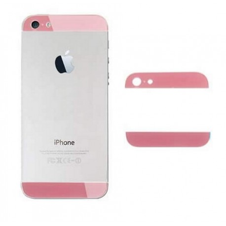 iPhone 5 Bakstycke Glas Top/Botten (Rosa)