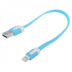 iPhone 5 Kort USB Kabel 20cm (Blå)