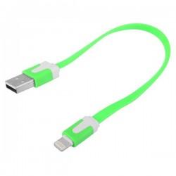 iPhone 5 Kort USB Kabel 20cm (Grön)