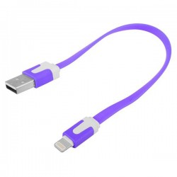 iPhone 5 Kort USB Kabel 20cm (Orange)
