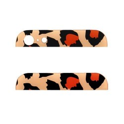 iPhone 5 Bakstycke Glas Top/Botten (Leopard Orange)