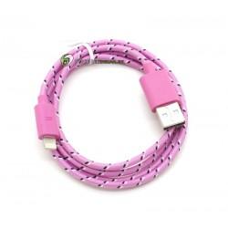 iPhone 5/5S/5C USB Kabel Snöret (Rosa)