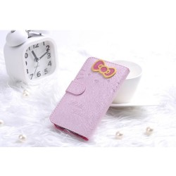 iPhone 5 Plånbok Hello Kitty (Rosa)