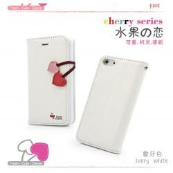 iPhone 5 Plånbok Cherry (Vit)