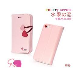 iPhone 5 Plånbok Cherry (Rosa)